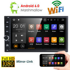 Android 6.0 Double Din Car Stereo Radio GPS Wifi 3G OBD2 HD Mirror BT No DVD US