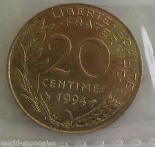 20 centimes marianne 1994 abeille : SUP : pièce de monnaie française