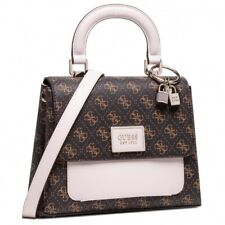 Guess Tyren Top Handle Flap Brown Stone