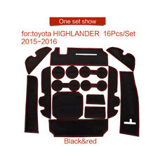 For Toyota Highlander 2015-2017 16PCS 3Colours White/Red/Blue Gate slot pad