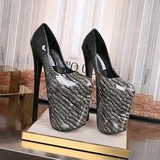 Women High 22cm Alligator Snake Print Pumps Drag Queen Heels Platform Sexy Shoes