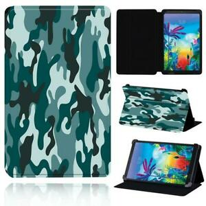 """Camouflage Smart Stand Case cover For LG G Pad 8.3"""" V500 /G Pad 5 10.1 FHD + Pen"""