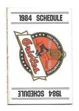 1984 Baltimore Orioles Multi Fold Pocket Schedule