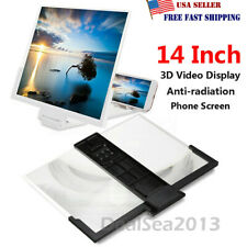 """14"""" Mobile Phone Screen Magnifier 3D Video Amplifier Smartphone Stand Bracket US"""