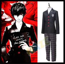 Persona 5 P5 Joker Akira Kurusu Cosplay Costume School Uniform Outfit Suit Men