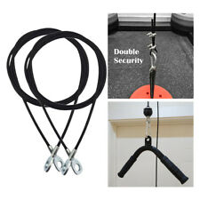 2Pcs 5mm 2m Adjustable Steel Fitness DIY Pulley Cable Arm Forearm Sports