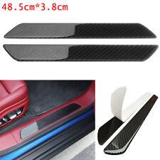 2x Carbon Fiber Car Scuff Plate Door Sill Cover Panel Step Protector Guard48.5CM