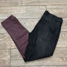 BCBG BCBGeneration Womens Jeans Size 29 Skinny Black Contrast Faux Leather Pants
