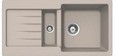 PYRAMIS Kücheneinbauspüle 86x43,5cm Küchenspüle Spüle Einbauspüle Granitspüle