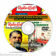 Radio Craft, Radio Electronics, 405 Vintage Radio Magazines in PDF on DVD B79