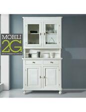 MOBILI 2G - Cristalliera 2 ante napoletana arte povera in legno, cristalliera, m