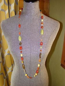 """Natural multi-stone necklace 42"""" total lenght"""