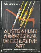 Australian Aboriginal Decorative Art - F D McCarthy  Original Catalogue 1938