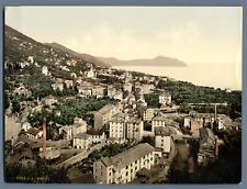 Genova. Nervi. Veduta generale. PZ vintage photochromie,  photochromie, vintag