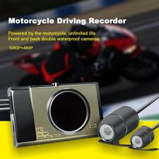 "3"" LCD HD Motorcycle Car Action Dual Camera Video Recorder Dash Cam Waterproof"