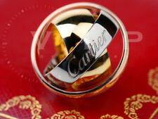 CARTIER MUST ESSENCE BAGUE TRINITY RING PENDANT LIMITED EDITION TRICOLOR GOLD 50