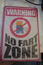 Fart Zone Tin Metal Sign Man Cave or for The Bar