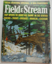 Field & Stream Magazine Top Spots To Hunt In 50 States October 1963 050815R