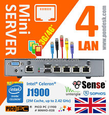 Intel J1900 4LAN Network Firewall bridge router VPN devices Mini pc  Mini Server