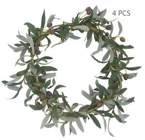 """28"""" Artificial Olive Plants Branch Leaf Living Room Fake Plants Stem Decor"""