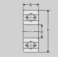 Miniatur Kugellager 6804 2RS /  61804 2RS / 20x32x7