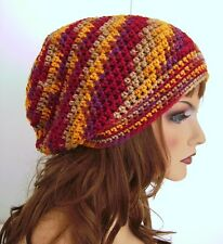 CRANBERRY PURPLE COLOR BAGGIE BAGGY SLOUCHY BEANIE HAT TAM CAP RASTA CHEMO GIFT