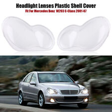 2x Headlight Lenses plastic shell Cover For Mercedes Benz C-Class W203 2001-2007