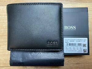 New Hugo Boss Asolo, Mens Wallet Black Leather Wallet 50250331 coin pocket