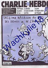 Charlie Hebdo n°120 du 12/10/1994 Taslima Nasreen Pasqua Willem Florence Rey