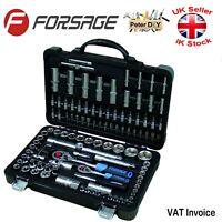 "108 pcs Ratchet Socket Set 1/2"" 1/4"" Tools Toolbox CrV Steel FORSAGE F-41082-5"