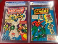 Justice League of America 21 & 22 (CGC Graded) - Re-into JSA into JLA title