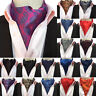 Men's Tuxedo Jacquard Silk Dots Flower Paisley Scarves Cravat Ascot Neck Ties