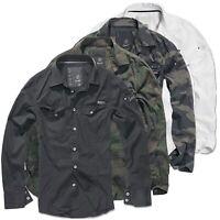 Brandit Slim Fit Shirt Herren Hemd Men US Worker Vintage Freizeithemd Tarn S-3XL