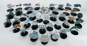 Star Trek Eaglemoss Ship collection Enterprise Valdore Borg cube Voyager Defiant
