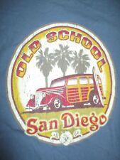 Vintage OLD SCHOOL - SAN DIEGO - CALIFORNIA Surf Board (LG) T-Shirt BEACH BOYS
