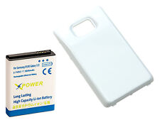 Long Life 3600mAh Extended Battery + Cover for Samsung Galaxy S2 i9100, XpWhite
