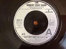 THE ROBERT CRAY BAND 1986 vinyl 45rpm single RIGHT NEXT DOOR