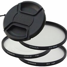 DynaSun PRO Filtre Skylight 52mm + Macro Close Up + Croix Star + Bouchon 52 mm