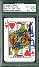 David Williams Authentic Signed Jack of Hearts Poker Playing Card Psa Slabbed