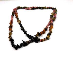 103 % Natural Multi Tourmaline Rough Uncut Polished Necklace Jewelry JC10423