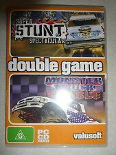 BNIP ~ PC CD ROM SUPER STUNT SPECTACTULAR AND MONSTER TRUCK RUMBLE GAMES NEW
