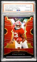 2020 Tua Tagovailoa Rookie PSA 10 GEM MINT Select Red Prizm  Chronicles Flawless