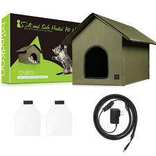 Mindkoo Dog Cat Kennel Outdoor Shelter Cats /Kitty House /Pet Sleeping Bed US