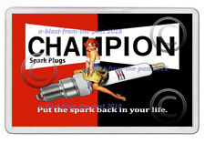 CHAMPION SPARK PLUGS VINTAGE ADVERT ARTWORK NEW JUMBO FRIDGE  MAGNET