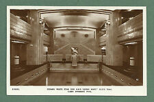 C1930'S RP POSTCARD CUNARD WHITE STAR LINE R.M.S. QUEEN MARY CABIN SWIMMING POOL