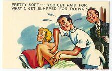 MASSEUR MASSAGE or CHIROPRACTOR Comic Postcard ca1950
