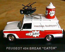 PEUGEOT 404 BREAK CATCH PUBLICITAIRE 1/43 INSECTICIDE BLANCHE TOLEE WHITE