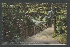 1907 RUSTIC BRIDGE IN PARK ROCHESTER NY UDB UNDIVIDED BACK POSTCARD