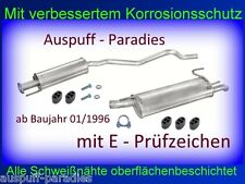 Abgasanlage Auspuff Opel Astra F 1.4i & 1.6i AB 01/1996 Caravan / Kombi + Kit