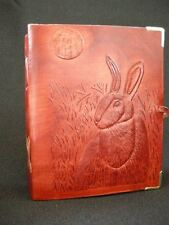 HARE & MOON - Handmade Leather Journal Book of Shadows Grimoire Diary